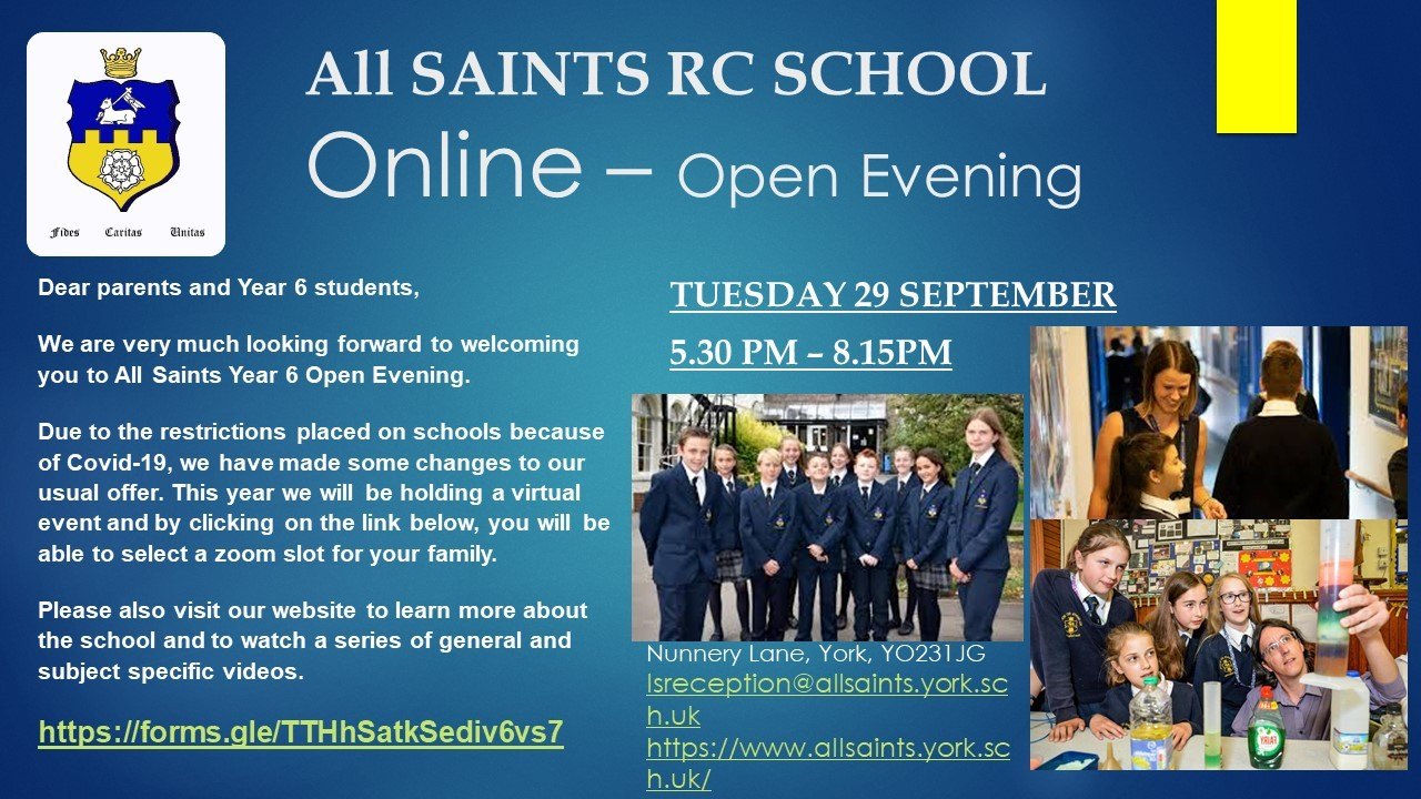 Invitation for Y6 Open Eve i